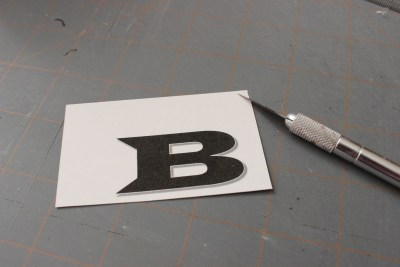 Cut out using a craft knife