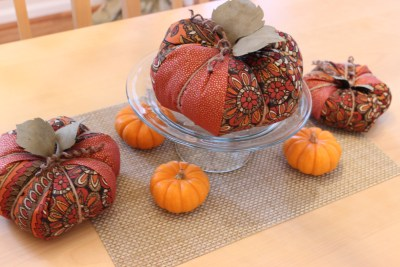 More Fall Fabric Pumpkins