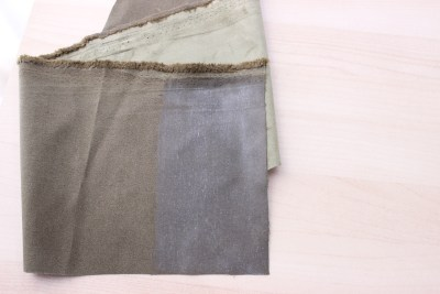 Paint fabric stiffener on the back of your fabric