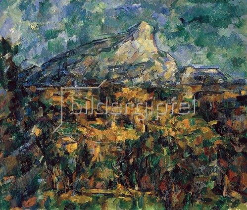 landschaft bei aix mit dem montagne sainte victoire von paul cezanne