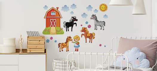 Mongolfiera con elefante 46cm x 63cm altezza. Adesivi Murali Per Bambini Decorazioni Per Camerette
