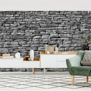 Intramontabile, la carta da parati che imita i mattoni tipo muro grezzo o i mattoncini di pietra, arreda ogni tipo di parete. Carta Da Parati Effetto Pietra Online Su Bilderwelten