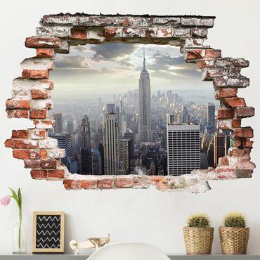 Brooklyn bridge, statue of liberty, empire state. Adesivi Murali New York Online Su Bilderwelten It