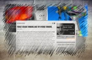 """Screenshot von Dev Patnaiks Artikel """"Forget Design Thinking and Try Hybrid Thinking"""""""