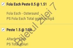 Biletul zilei COTA 2 propus de BZ7 (03.08.2017)