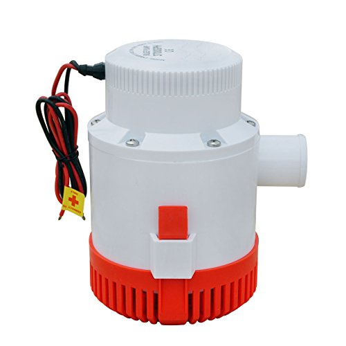 Honqaour Bilge Pump Non-automatic Marine Electric Submersible Bilge Pump with 500GPH 12V