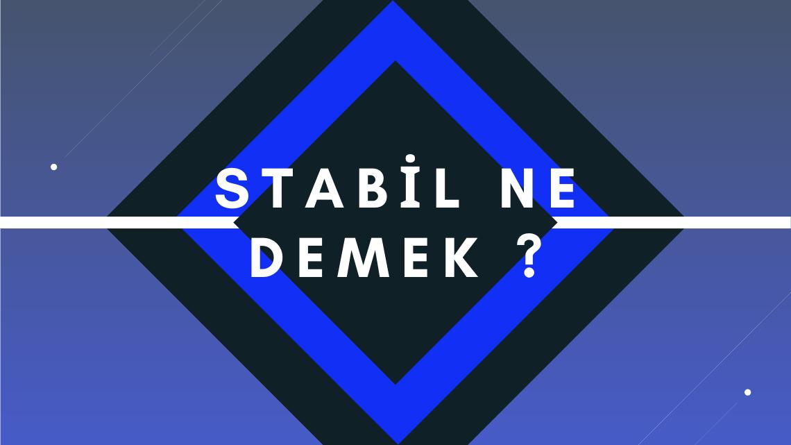 Stabil Ne Demek ?