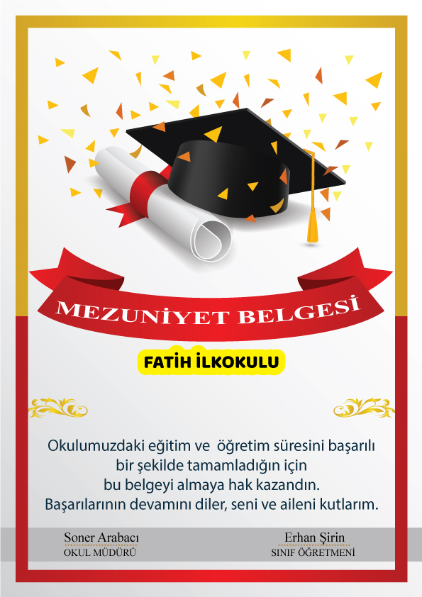 mezuniyet diplama SON1SA - Mezuniyet Belgeleri