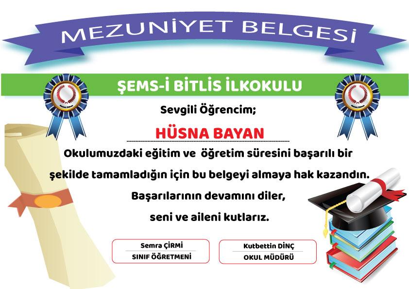 mezuniyet diplama SONS - Mezuniyet Belgeleri