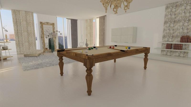 tavolo biliardo italia cinque tinto noce