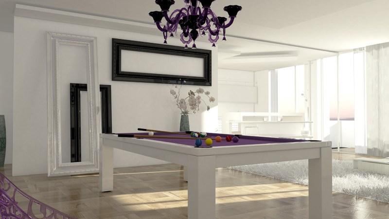 tavolo biliardo italia quattro laccato bianco snooker 10 ft