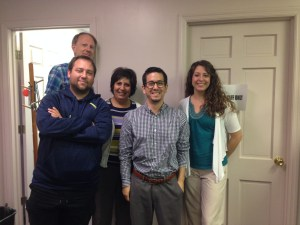 The CANA/ORR services Faith Team: Ron Klutho, George Simon, Sajida Momeni, Mario Camere, Jeannine Cinco