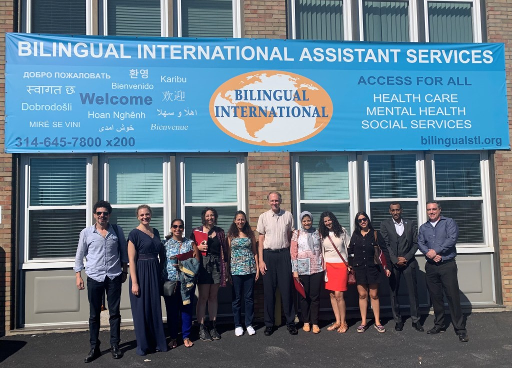 Egyptian Refugee Service Delegation at Bilingual International