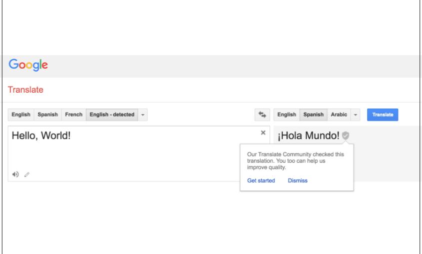 Google Translate Spanish