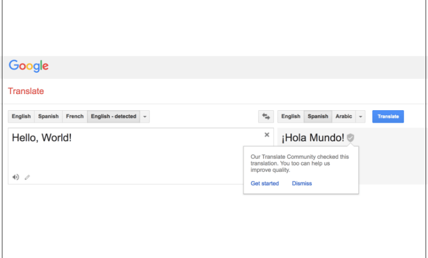 Google Translate Spanish