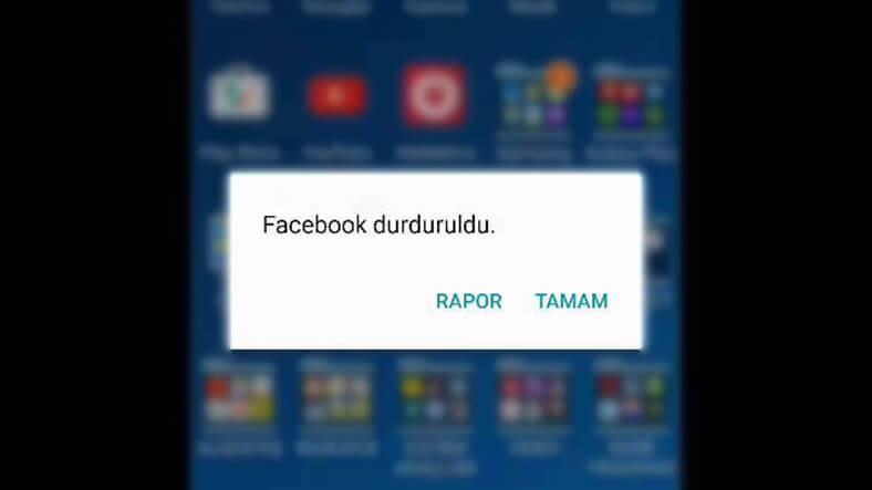 Facebook durduruldu hatası ve çözümü