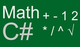 Visual C# Math Sınıfı ve Özellikleri (Matematiksel Fonksiyonlar)