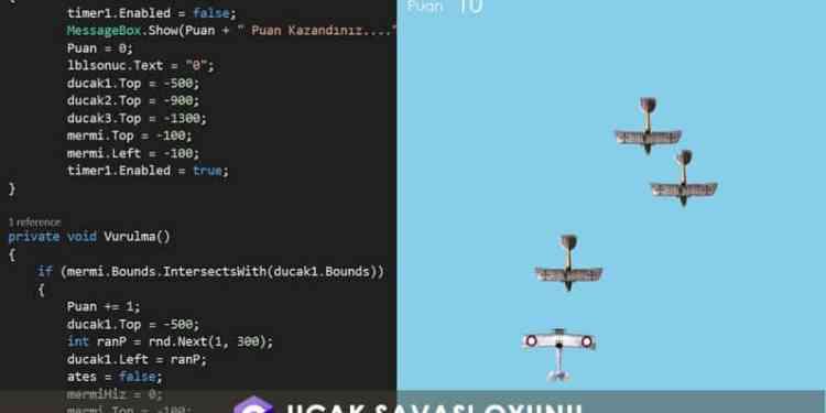 C# Uçak Savaşı Oyunu