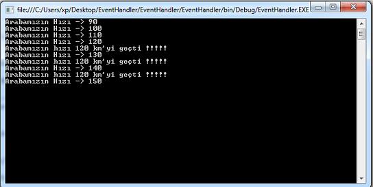 C# Örnekleri –  Event ve Delagate Kullanımı