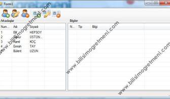 C# Örnekleri – Access Adres ve Bilgi Defteri Uygulaması