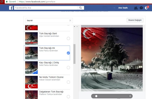 gameface Türk Bayrak