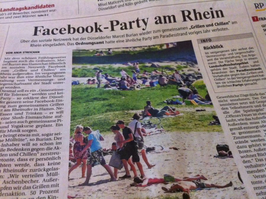 Facebook-Party am Rhein