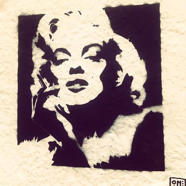 Marilyn Monroe PasteUp in Düsseldorf/Bilk