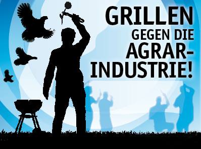 Grill-Demo gegen Agrarindustrie