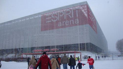 ESPRIT Arena im Schnee