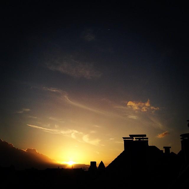 Unser Abendhimmel – Schöne Szene ;-)