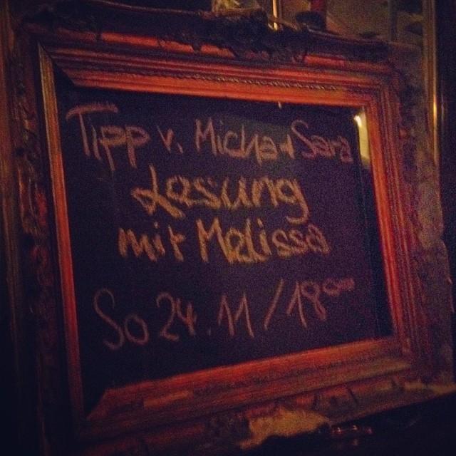 Terminerinnerung für morgen :-) Lesung im Modigliani...