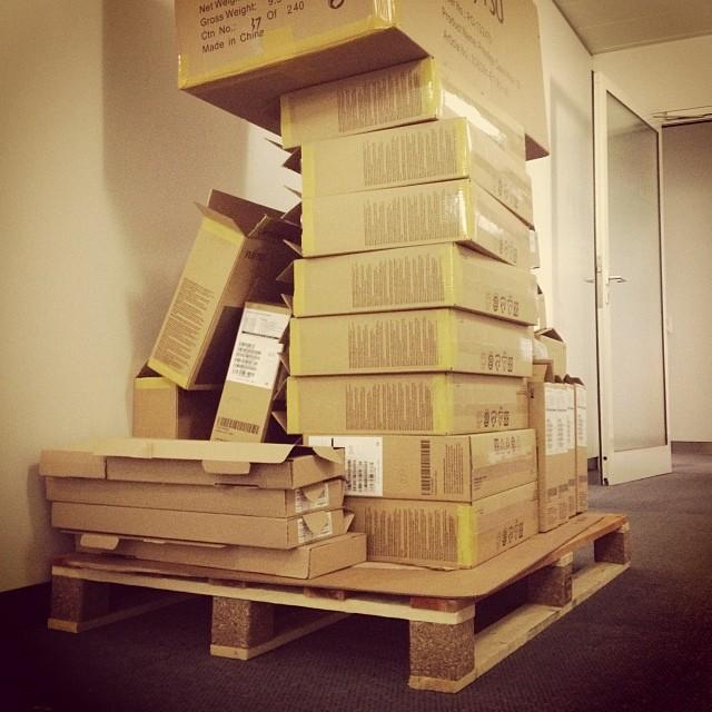 Noch jemand Lust auf eine schnelle Runde Office-Jenga? :-)