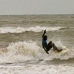 Die Surf-Saison scheint auf Texel bereits begonnen zu haben...