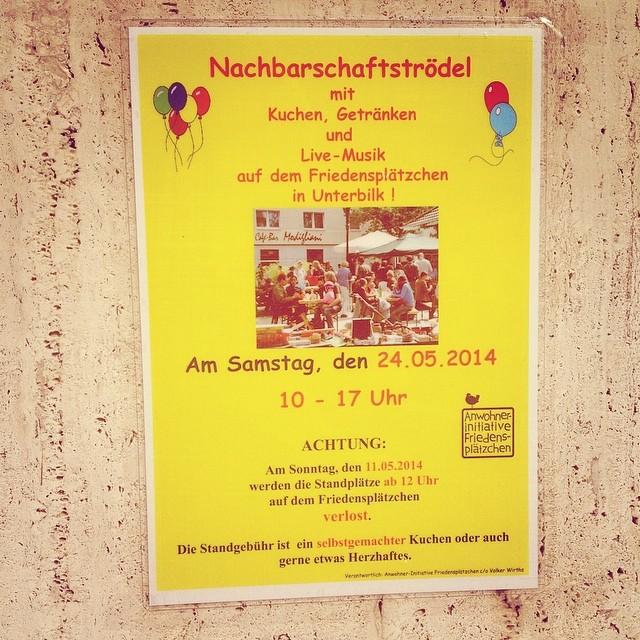 Freuen uns wie Bolle auf den Flohmarkt im Kiez :-) #bilk #duesseldorf