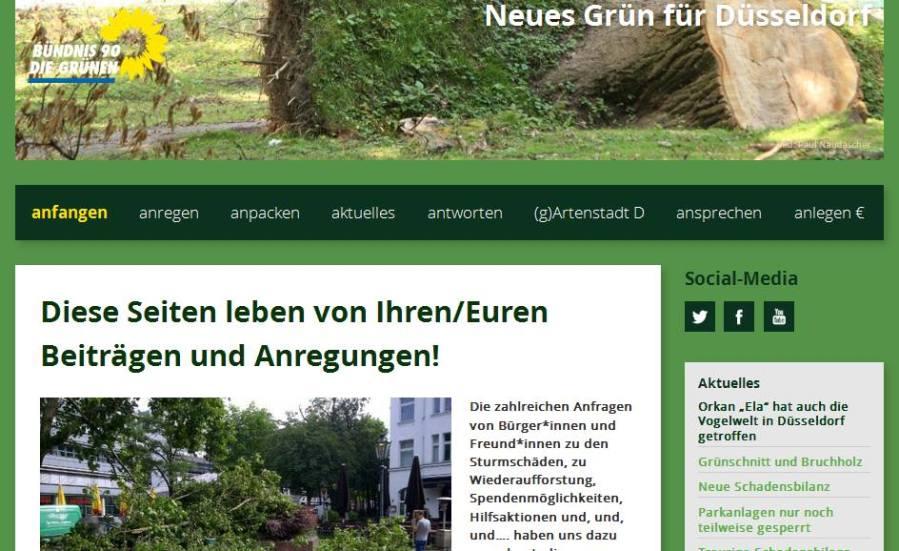 """GRÜNE schalten Portal """"Neues Grün für Düsseldorf"""" frei"""