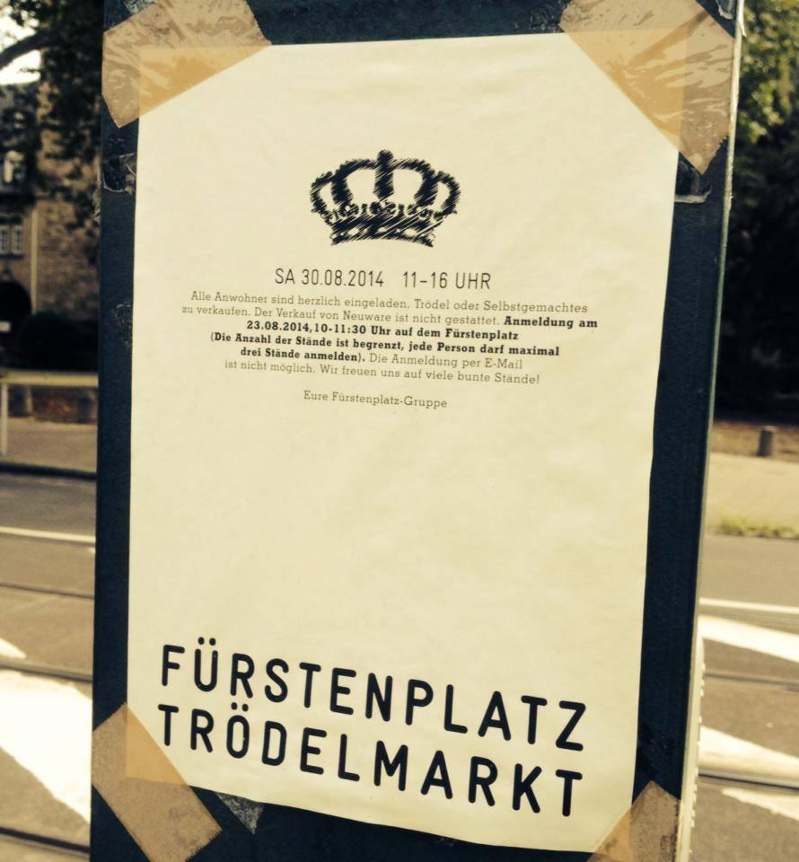 Flohmarkt auf dem Fürstenplatz