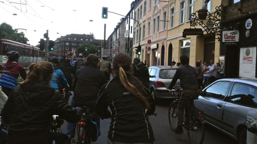 Mit dem Rad quer durch die Stadt