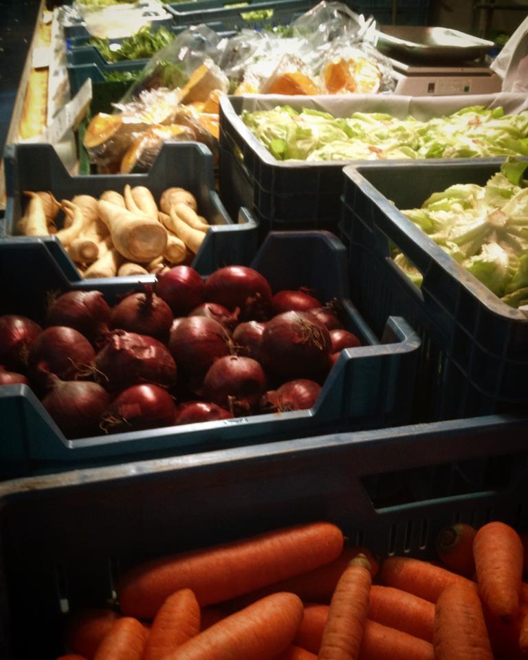 Saisonalbedingte Auswahl auf'm Bauernmarkt