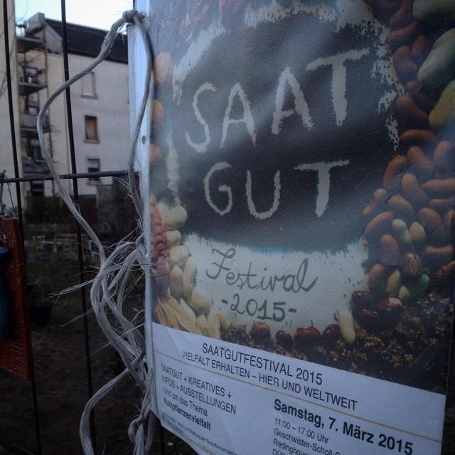 Freuen uns schon auf das 'SaatgutFestival' am 7. März :-)