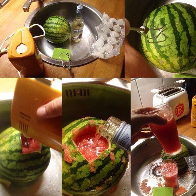 """Wir waren sehr inspiriert von einem """"Wassermelone trifft auf nen halben Mixer und wird mit Wodka abgeschmeckt  HowToVideo""""... Schmeckt wirklich gut :-)"""