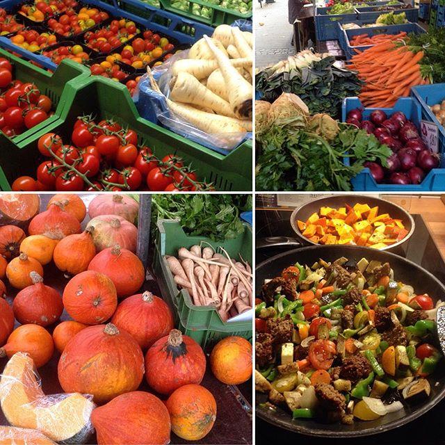 Es ist wieder Markttag :-) Endlich wieder den Wocheneinkauf auf dem Bauernmarkt machen und danach lecker kochen...