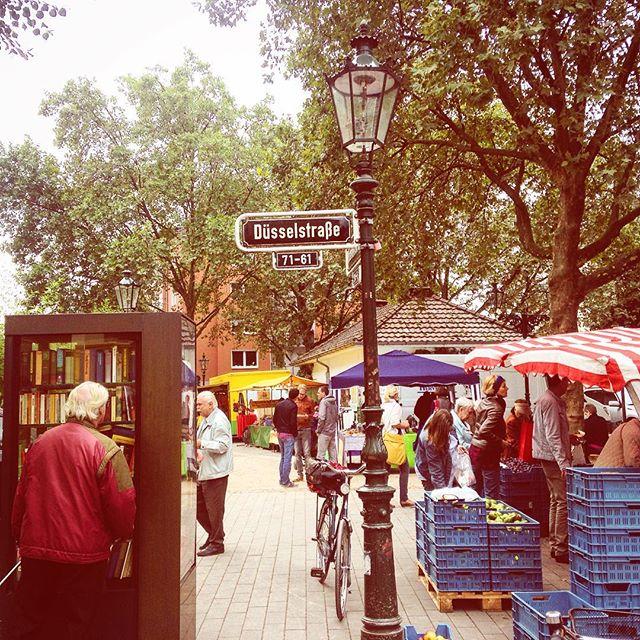 Markttag bei uns im Viertel – Zeit für Einkauf und Gespräch :-)