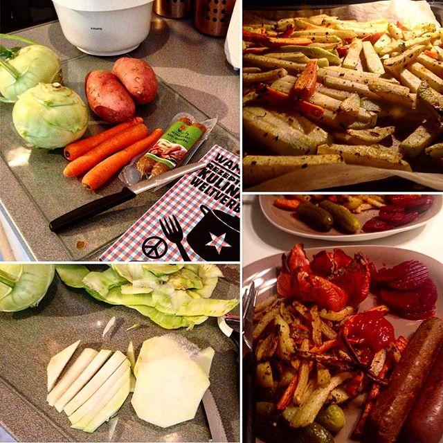 Leckere LowCarb GemüsePommes - frisch geschnitzt aus Karotten und Kohlrabi ;-)