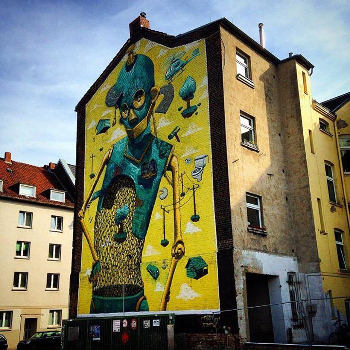Idee: Urbanart Themenradroute. Mit dem Rad zu den großformatigen Wandbildern der Stadt.