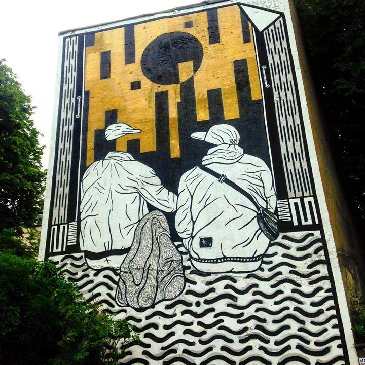 Wandbilder in der Stadt