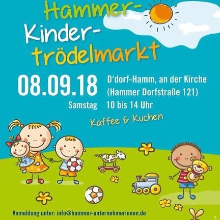 Kindertrödelmarkt in Düsseldorf-Hamm