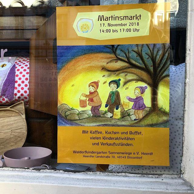 Gerade erst das Plakat entdeckt - heute ist auch MartinsMarkt im Waldorf Kindergarten in Heerdt :-)