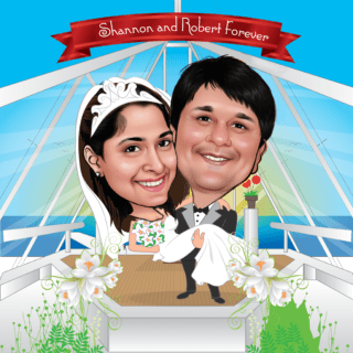 Wedding Caricature Gift