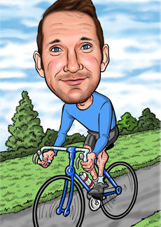Cycling Bill And Ben The Cartoon Men Caricatures From