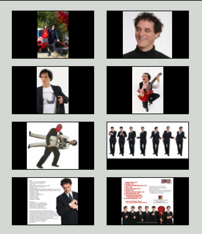 collage of eight photos of Bill Berry